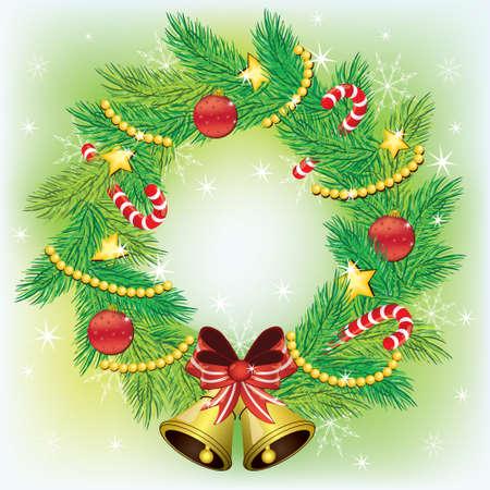Christmas wreath Vector