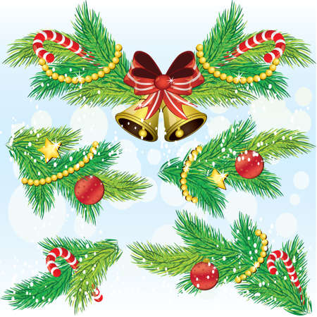 Christmas decoration design elements Stock Vector - 8269332