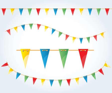 Vector illustrated flag garland