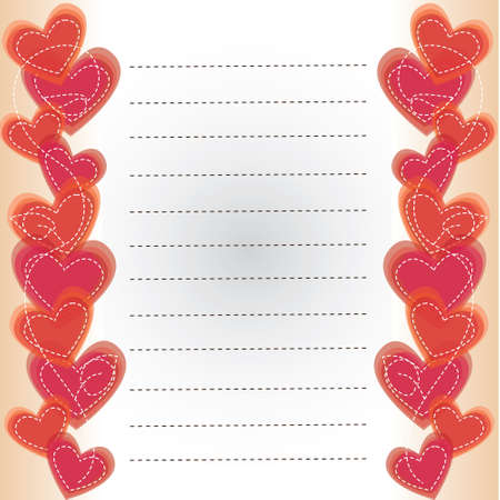 Background with the hearts  Vector