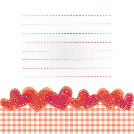 Vector illustrated background with the hearts 03  Vector