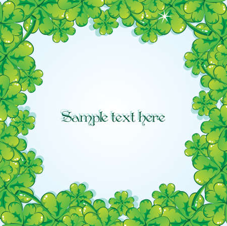 Shamrock border , vector Stock Vector - 8815136