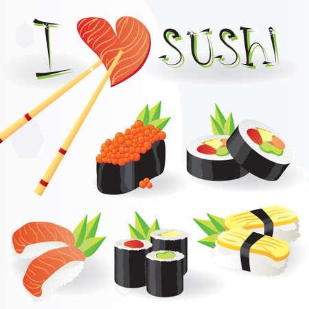 I love sushi Illustration