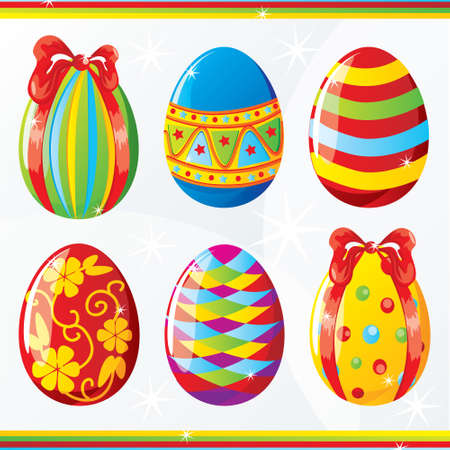 Easter egg collection Stock Vector - 8976292