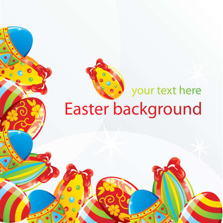 Easter corner background Stock Vector - 8976297
