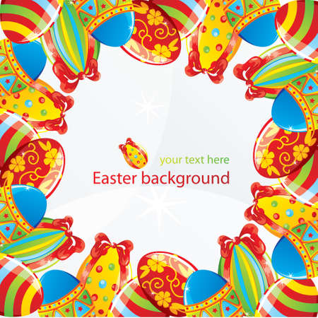 temlate: Easter border, vector