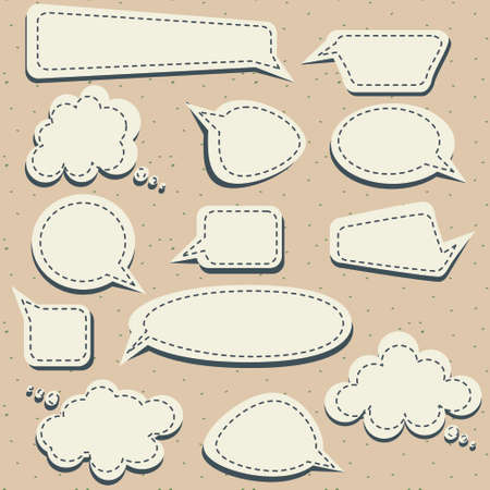 set of speech and thought blobs, vector Stock Vector - 8976305
