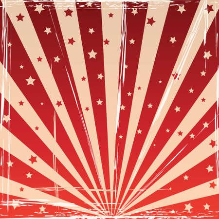 fondo de circo: Fondo abstracto con rayos del sol Vectores