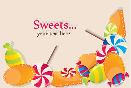 colourful candy: Sweets Illustration