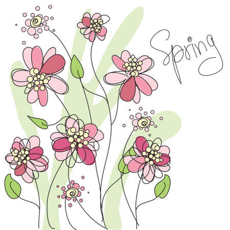 Spring vector floral background Vector