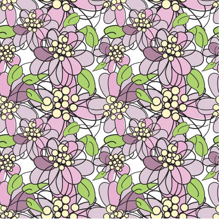 Violet flowers - seamless pattern Stock Vector - 9097723
