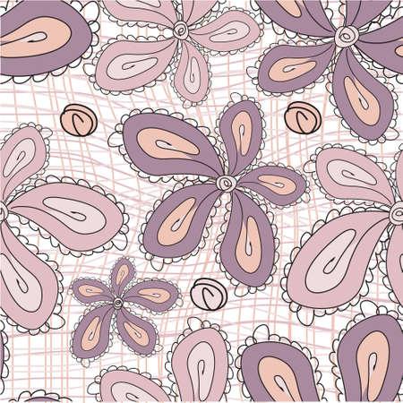 Seamless flower background, vector  Illustration