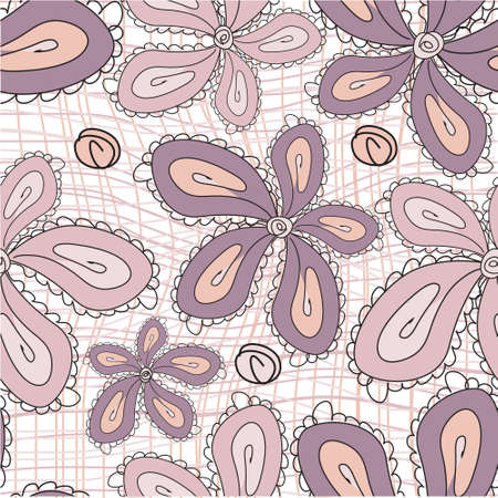 violette: Seamless flower background, vector  Illustration