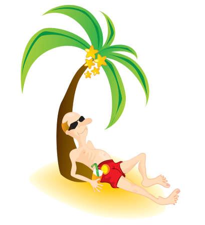 Tourist on vacation Vector