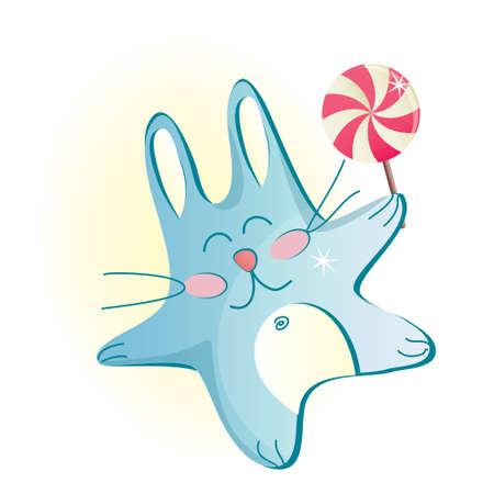 bunny with lollipop Vector