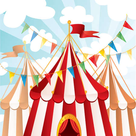 circo: Fondo de circo Vectores