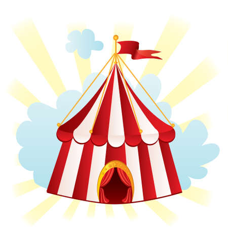 marquee tent: Circus tent, illustration