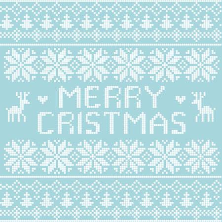Christmas nordic pattern, vector