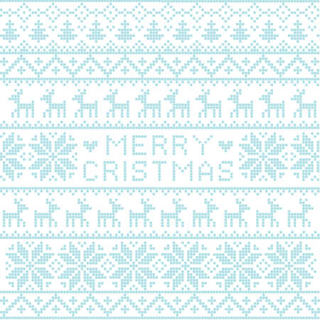 Christmas nordic pattern, vector