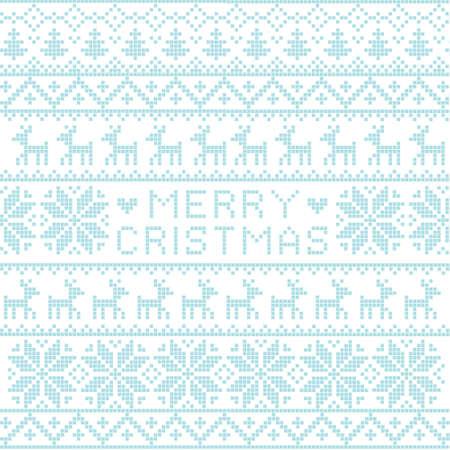 sueter: Navidad nórdica patrón, vector Vectores