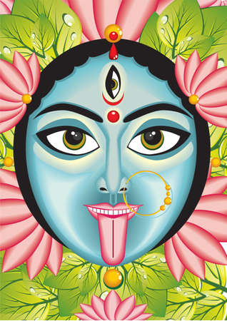 kali: Kali - Indian Goddess face  Illustration