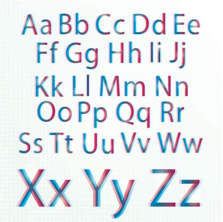 Digital CMYK alphabet, illustrated Stock Vector - 12720393