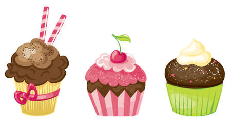 Cupcake set Stock Vector - 14483080