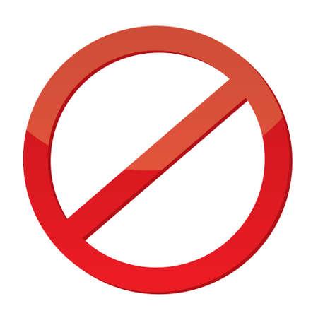 proibido: Sinal n�o permitido Ilustração