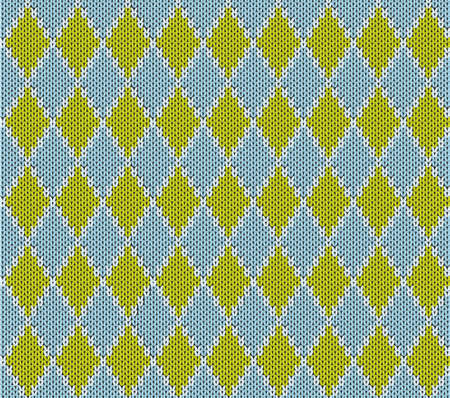 Seamless rhombus knitted pattern Vector