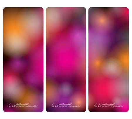 Abstract holiday banners Illustration
