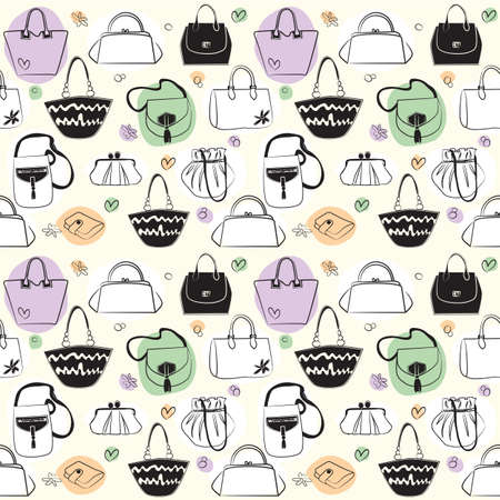 Bags seamless pattern Vector
