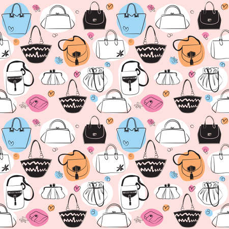 purses:  Bags seamless pattern Illustration