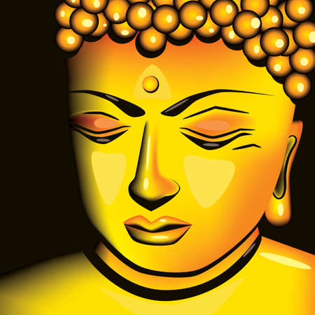 Golden Buddha Vector