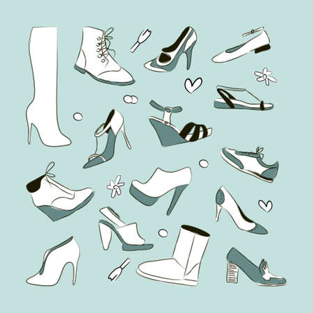 drawings image: Women s shoes set