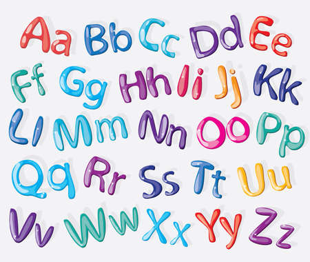 Cartoon colorido alfabeto