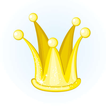 king master: illustrated cartoon golden crown