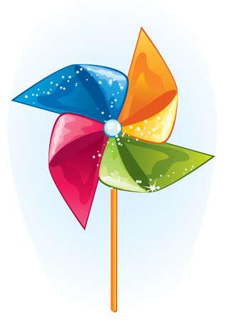 Cartoon windmill propeller