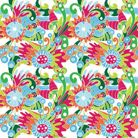 Seamless multicolor flower pattern Vector