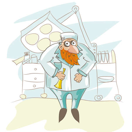 doctor vector: Cartoon doctor. Vector illustrated