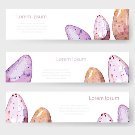 Watercolor easter holiday cards tags banners set vector royalty watercolor easter holiday cards tags banners set vector stock vector 37649998 m4hsunfo