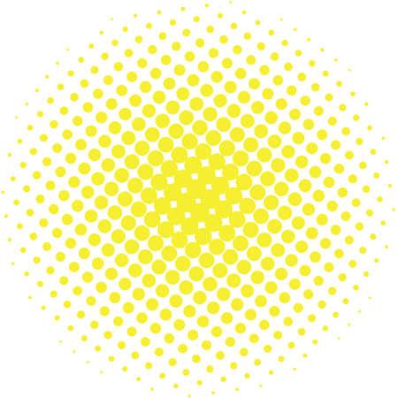 추상 하프 톤 디자인 요소입니다. 노란색 팝 아트 도트 배경. 팝 아트 스타일의 그림을 발견했다. 폴카 벡터 템플릿을 점. 현대 거품 배경 스톡 콘텐츠 - 68117807