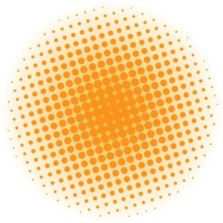 wallpaper image: Abstract halftone design element. Orange pop art dot background. Pop-art style spotted illustration. Polka dot vector template. Modern bubble background