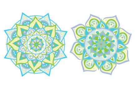 Vector illustrated blue mandala Illustration