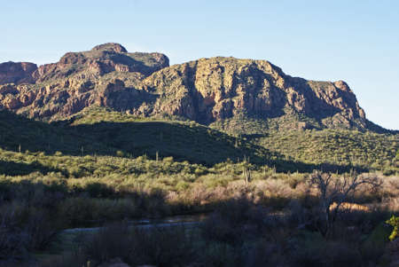 Some of the rugged hills that dot the desert landscape near the upper salt river in Arizona.
