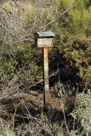 An old bird house located at a nature preserve in Arizona.