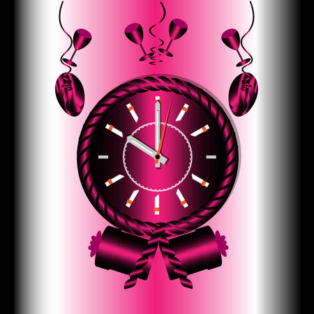 Illustration vector graphic of  clock background or wallpaper