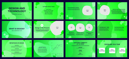 presentation templates design and technology with light green color, Vector infographic, abstract background, Use in presentation, flyer and leaflet, marketing, web advertising