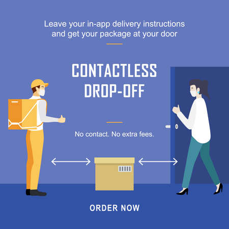 social distancing, when maintaining distance during this time, let your package dropped off safely at the homes/offices.