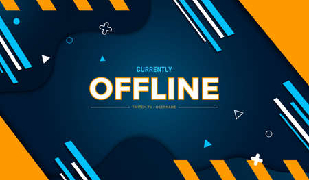 Abstract Modern Gaming Background for Offline Twitch stream. Vector illustration. Vector Illustration