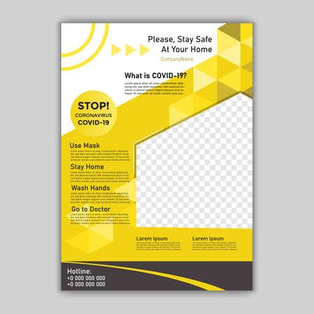 COVID-19, Informative coronavirus poster template. Vector illustration.